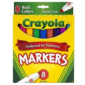 Crayola Marcadores de Fórmula Original, Punta Cónica, 8 Colores Audaces