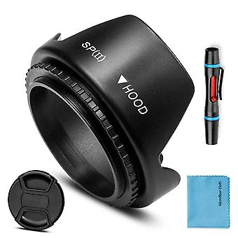 58Mm lens hood,fotover universal tulip flower lens hood sun shade with centre pinch lens cap for can