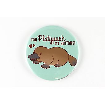 Funny Platypus Magnet, Pinback Button, Or Pocket Mirror