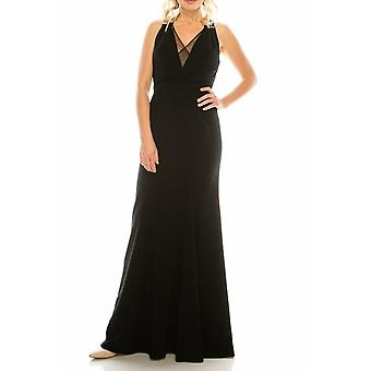 Halter Plunge Sheath Gown With Court Train