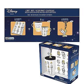 "Disney - Hrnek 250ml + Klíčenky + Notebook ""Zvonilka"""