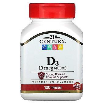 21st Century, Vitamin D3, 10 mcg (400 IU), 100 Tablets