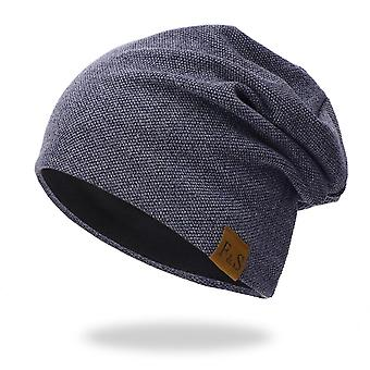 Beanies Cap Casual, Lightweight Thermal Elastic Knitted Cotton, Warm Hat,