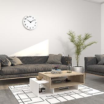 Sofabord Caffe'Gemini Hvid farve, Sonoma i Melaminico Chipboard, L100xP60xA35 cm