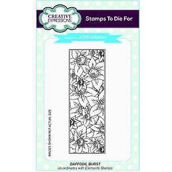 Creative Expressions Daffodil Burst Striplet Pre cut Stamp