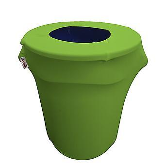 La Linen Stretch Spandex Trash Can Cover 32-Gallon Round,Lime