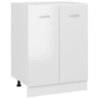 Bottom Cabinet High Gloss White 60x46x81.5 Cm Chipboard