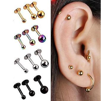 Stainless Steel Rings Stud Cartilage Ear Piercing