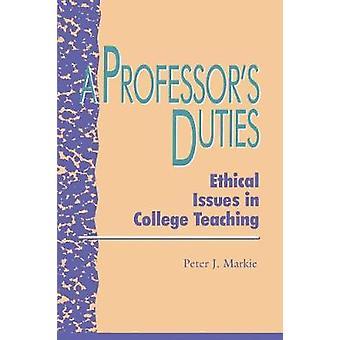A Professor's Duties