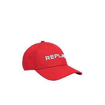 Replay Jeans Replay Mens Baseball Cap Red