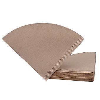 40 piezas 2-4 taza de filtros de café cónico marrón V02 Goteo 16.7cm de ancho