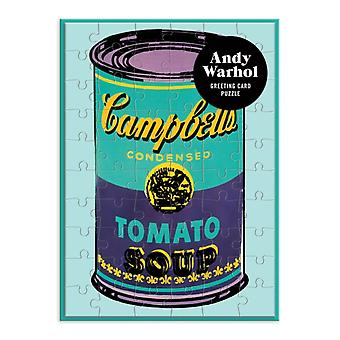 Andy Warhol Soup Can Greeting Card Puzzle by By artist Andy Warhol & Created by Galison