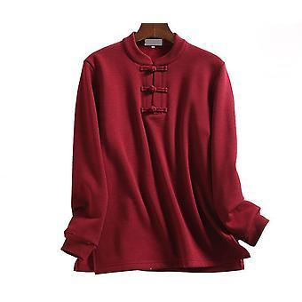 Unisex Otoño&invierno Cálidas camisetas de Tai Chi, Trajes Wushu, Camisa de Artes Marciales