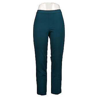 Isaac Mizrahi Live! Dames Petite Pants 24/7 Stretch Snap Hem Green A389213