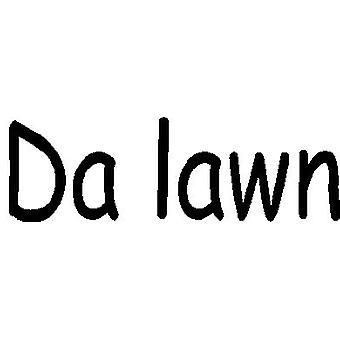 Da Lawn (Well Done) Wood Mounted Stamp