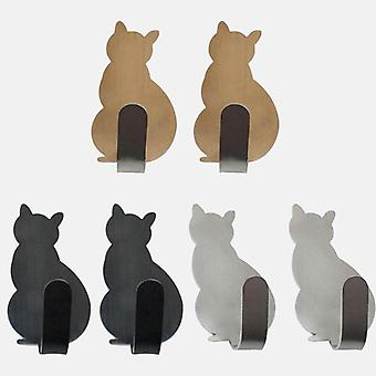 Cat Pattern Storage Holder Hooks