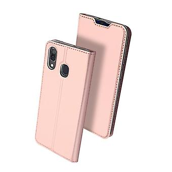 For samsung a40 case shockproof anti fall flip flap cover rose gold d5