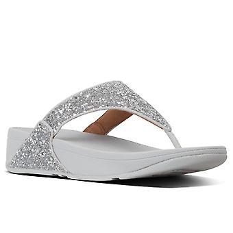 FitFlop™ Lulu Glitter sandalias post de punta de mujer