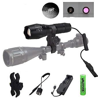 Zoomable Focus 850 Nm Led Ir Hunting Flashlight  Night Vision Torch