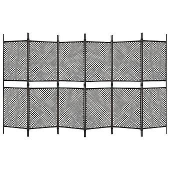 vidaXL 6-tlg. Diviseur poly Rottan Brun 360 x 200 cm