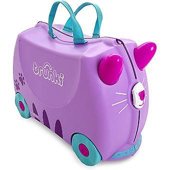 Gerui Trunki Children&s Ride-On Suitcase Hand Luggage: Cassie Cat (Lilac)
