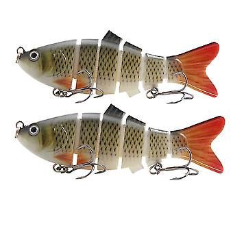 2 Pcs/Pack Artificial Fishing Lures 6 Segments