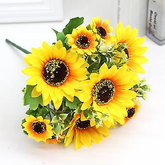 5Pcs simulación de flor artificial girasol flor seca flor falsa flor