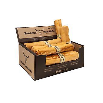 Gloria Pets Snackys Rawhide Chews Honey Flavor Rollo vriden hud