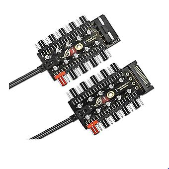 Motherboard  Pin Pwm Cooler Fan Hub Splitter Extension