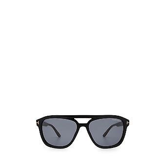 توم فورد FT0776-N النظارات الشمسية الذكور الأسود لامعة