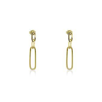Boho betty alto gold chain drop earrings