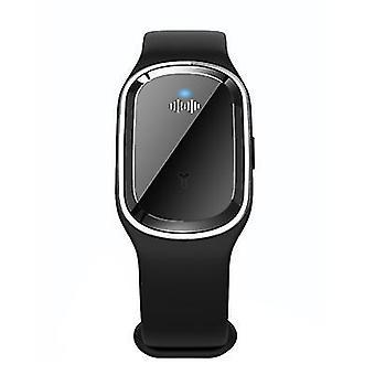 Bracelet de montre anti-moustique noir bracelet à ultrasons insectifuge bracelet az9535