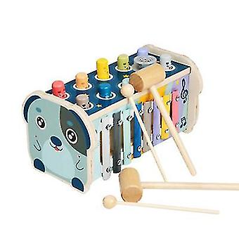 Dog wooden children's percussion instrument toys, infant early education educational toys az5739