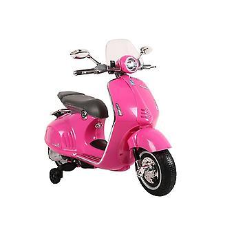 Vespa kinder scooter elektrisch bestuurbaar 45W – Roze