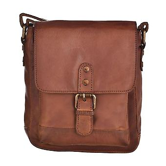 Small Vintage Leather Flap Over Cross Body Bag