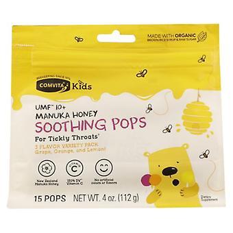 Comvita Manuka Honey Soothing Pops Kids, 4 Oz