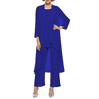 Mousseline de soie pour femmes Mère de la mariée Robe, Pantalon Costume