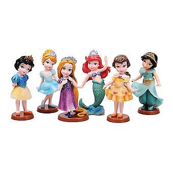 6 Pcs/set 9cm Snow White Princess Action Figure Toy