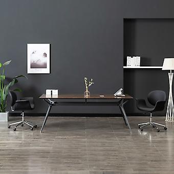 vidaXL قطب مكتب كرسي أسود فو الجلود