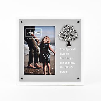 "Moments Wooden 2 Layer Frame 4"" x 6"" - Großeltern"