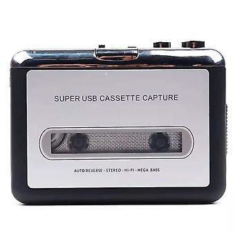 Kassettspelare bärbar bandspelare fångar MP3-ljudmusik via USB