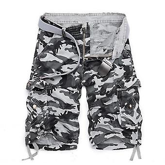 Mens Camo Cargo Shorts Relaxed Fit Multi Pocket Outdoor Camouflage Cargo Shorts Cotton
