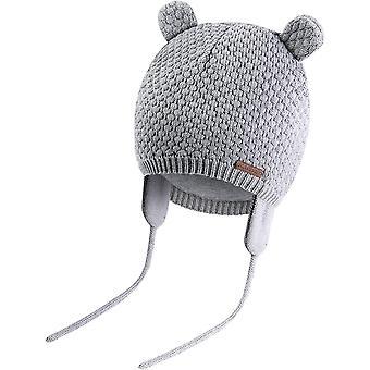 Baby Jungen Mädchen Mütze Beanie Strickmütze Cap Kinder Wintermütze Cute Bear Hut