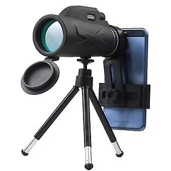 Kiikarit 80x100 Monocular Telescope Vedenpitävä HD Zoom -teleskoopit kolmijalkapuhelinleikkeellä