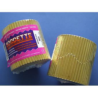 Gold 7.5m Metallic Corrugated Card Bordette Classroom Border Display Rolls