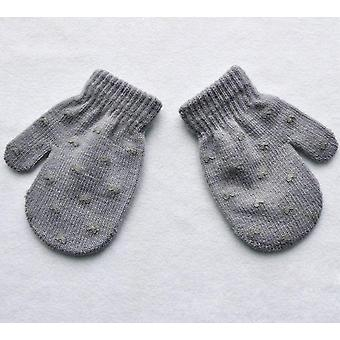 Cute Dot Star Hart patroon wanten zacht breien warme handschoenen