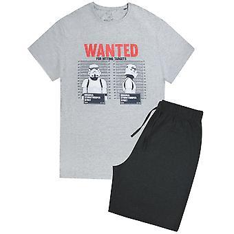 Star Wars menns Stormtrooper Wanted Pyjama sett
