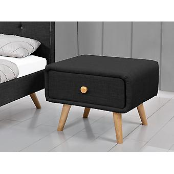 Table de chevet LARA - 52 X 45 X 40 CM - Noir