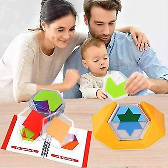 Wooden Toy Colors Shapes Double Sided Matching Game Logical Reasoning Training Educational Toy