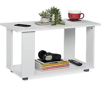 Moderni sohvapöytä - 80x40x45 cm - valkoinen